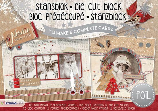 Nordic Winter - A5 Stansblok met Folie