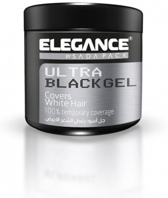 Elegance Hair Black Gel Dekt Grijs/Wit Haar 250ml