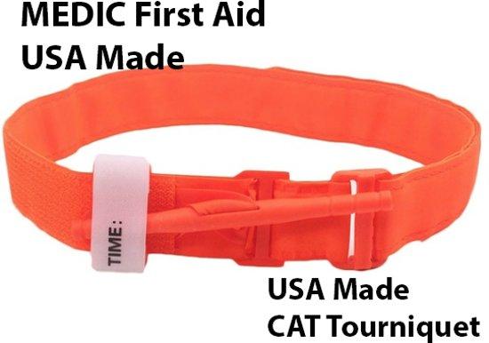 MEDIC First Aid CAT Tourniquet   Oranje   USA Made   Survival   Industrie   Buitensport   EHBO   First Aid Kit   Geschikt voor Huis, Auto, Camping, Boot, Op Reis, Sport