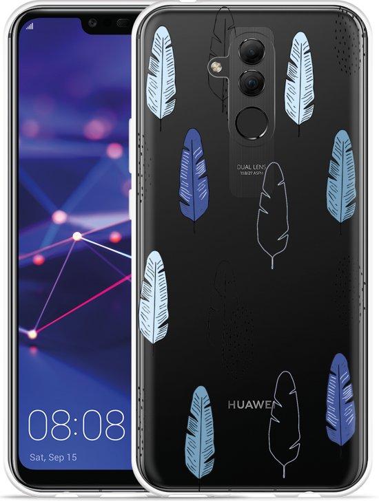 Huawei Mate 20 Lite Hoesje Feathers Pattern