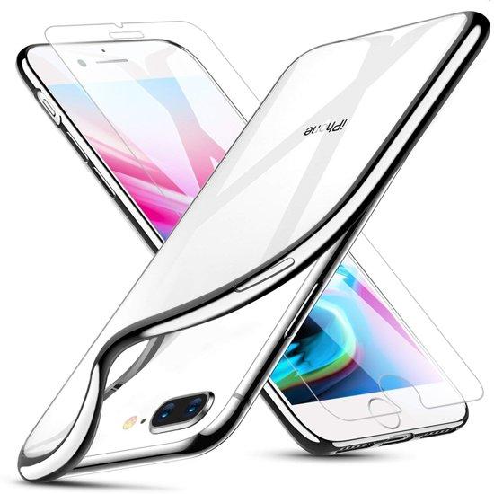 MMOBIEL Ultra Dunne TPU Silicoon Case, Hoesje Met Gratis Tempered glass Screenprotector iPhone 7 Plus  incl Cleaning Pads / Schoonmaakdoekjes in Bolland