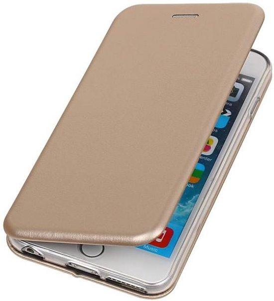 BestCases.nl Apple iPhone 6 / 6s Plus Folio leder look booktype hoesje Goud in Veldhuis