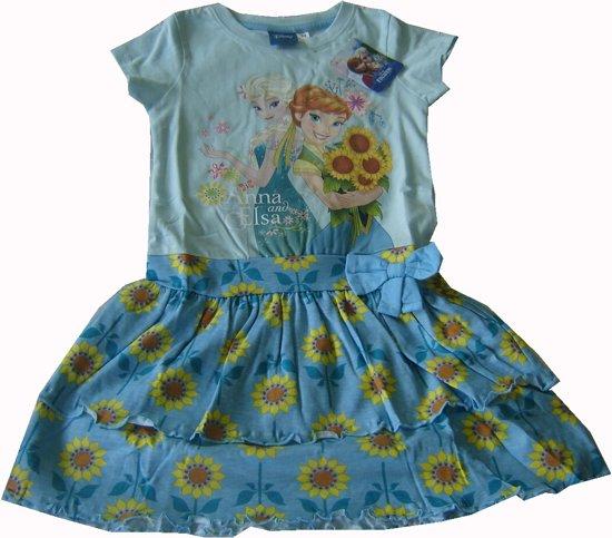 2e521f4afe74ca Lichtblauw jurkje van Disney Frozen maat 98 104