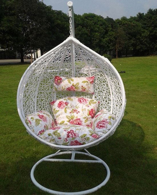 Hangende Stoel Met Standaard.Xl Hangende Egg Chair Cocoon Hang Ei Stoel Tuin