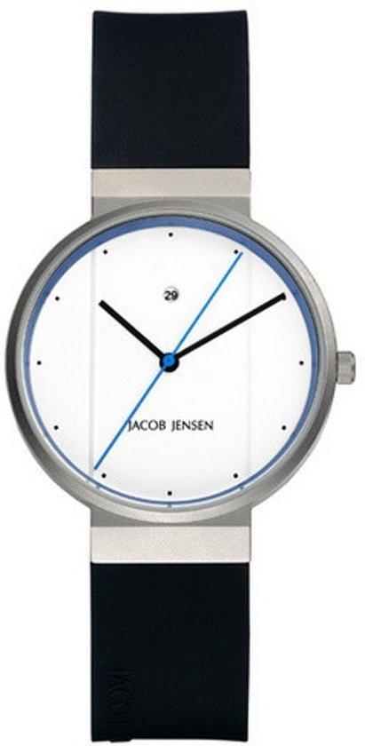 Jacob Jensen 750 horloge heren - zwart - edelstaal