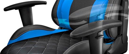 Trust GXT 707 Resto - Gaming Stoel - Zwart/Blauw