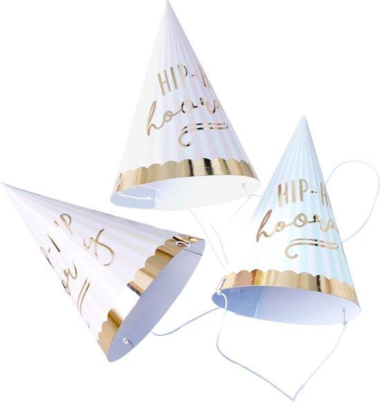 Hip Hip Hooray feesthoedjes (6 stuks) Valentinaa