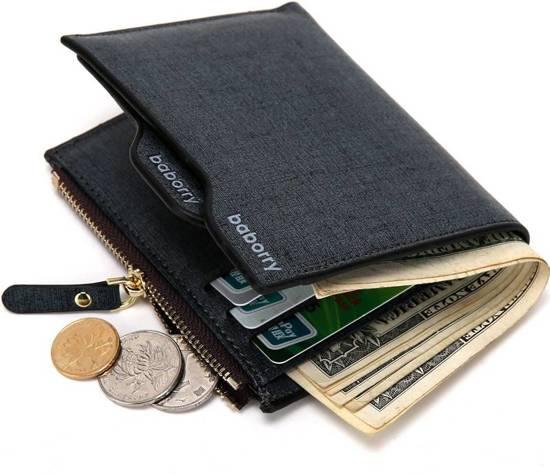 b76de15c979 Portefeuille - portemonnee - portefeuille heren -Zwart Blauwe heren  portefeuille - DisQounts