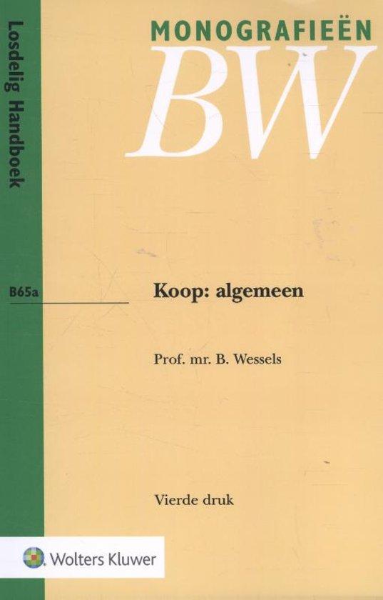 Monografie n BW B65a - Koop: algemeen