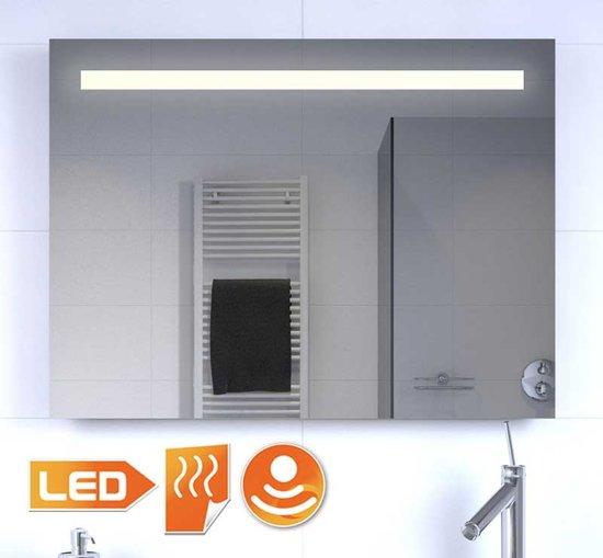 Badkamerspiegel met stopcontact verwarming en Badkamerspiegel met led verlichting en verwarming