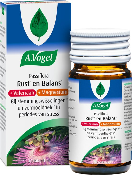 A. Vogel Passiflora Emotionele Balans - 30 Tabletten - Voedingssupplement
