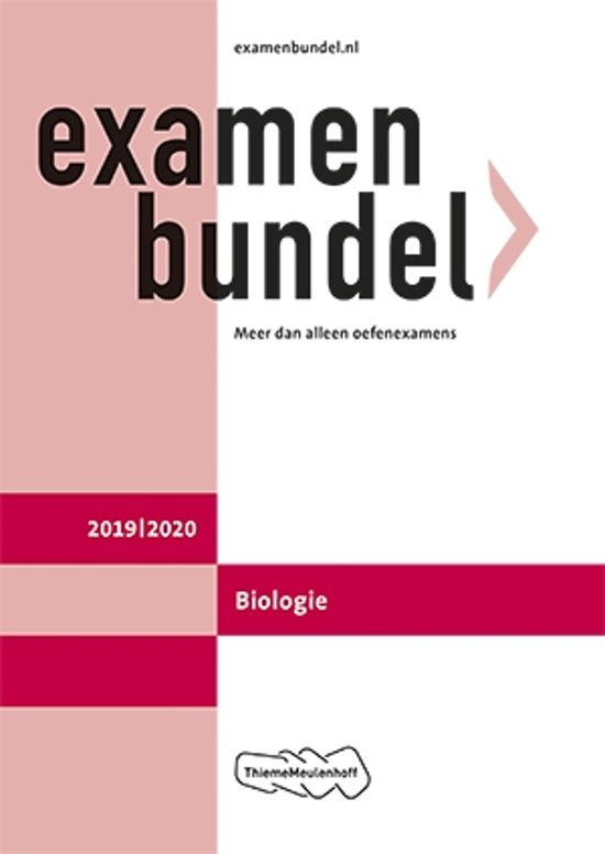 Afbeelding van Examenbundel vwo Biologie 2019/2020