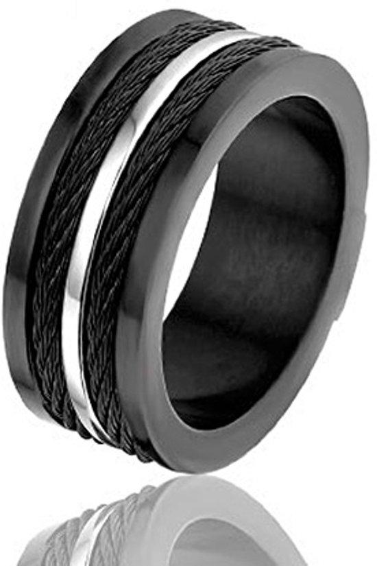 Montebello Ring Riga - Heren - 316L staal - 9 mm - Maat 62 - 19.8