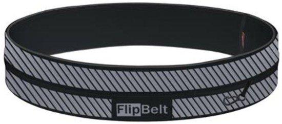 FlipBelt Runningbelt - Zwart/Reflective - Unisex - Zwart - L