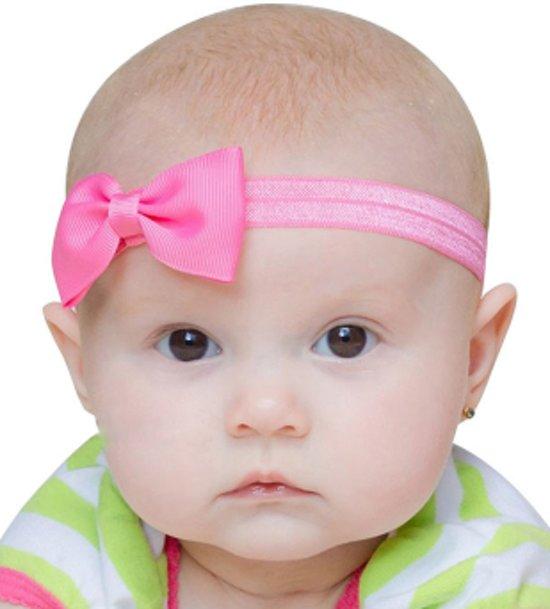 bol | baby haarband haar strikje luxe stretch hoofdband meisje