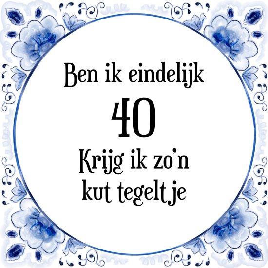 Bekend bol.com | Benza - Delfts Blauwe Spreukentegel - Ben je eindelijk  @ZM01