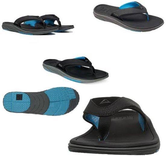 Modern Blue Light Black 38 Unisex Reef Slippers XxRqSEwO