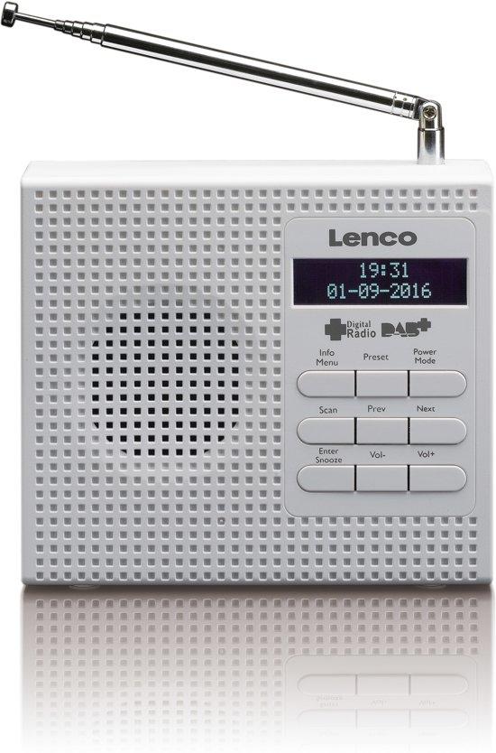 Lenco PDR-020 - Draagbare radio DAB+ - Wit