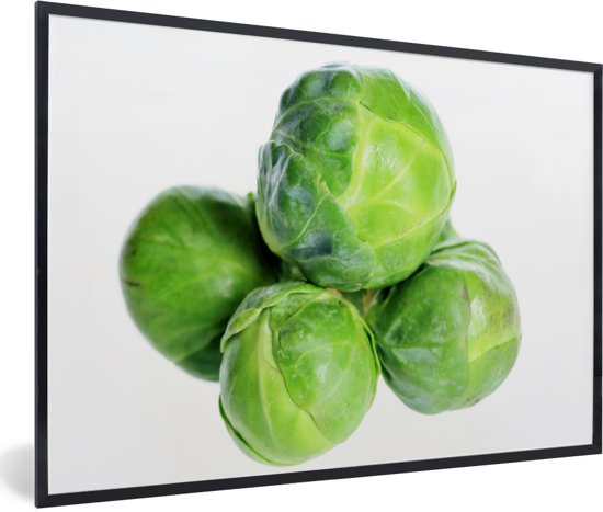 Foto in lijst - Opgestapelde groene mergkolen fotolijst zwart 60x40 cm - Poster in lijst (Wanddecoratie woonkamer / slaapkamer)