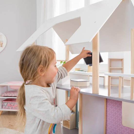 howa Groot Poppenhuis voor Poppen tot 30 cm met 19 Meubels 70103