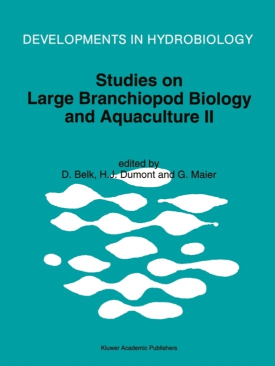 Studies on Large Branchiopod Biology and Aquaculture II