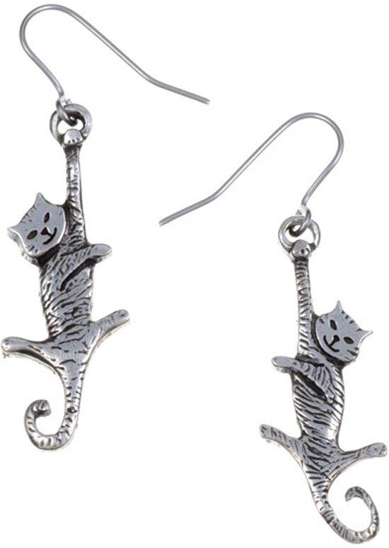goedkoopste exclusief assortiment koop goed bungelende kat Oorbellen | katten oorbellen kopen