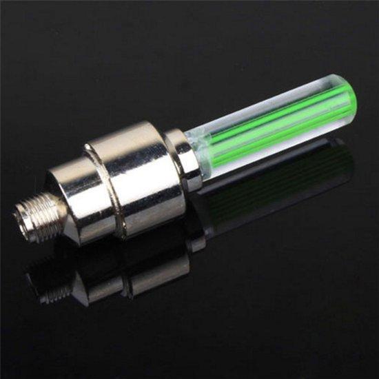 firefly led fietswielverlichting ventielbevestiging set van 2 groen
