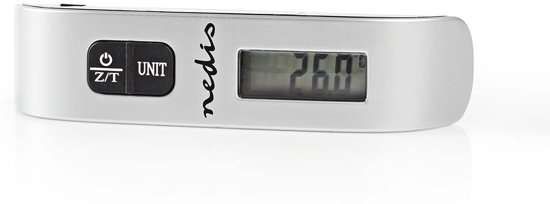 Nedis Digital Luggage Scale | 50 kg/110 lbs | Thermometer