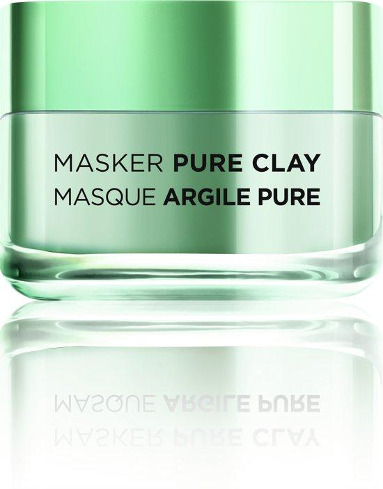 L'Oréal Paris Zuiverend Pure Clay Gezichtsmasker - 50 ml - Matterend