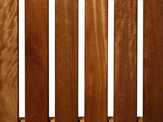 Beliani Tuinbank hout 180 cm met geel kussen TOSCANA MARLBORO