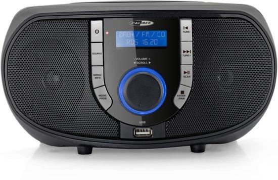 Caliber HBC433DAB-BT - Portable radio CD speler met DAB+ - Zwart