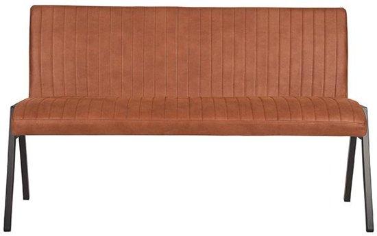 LABEL51 - Eettafelbank Matz 145 cm - Microvezel - Cognac