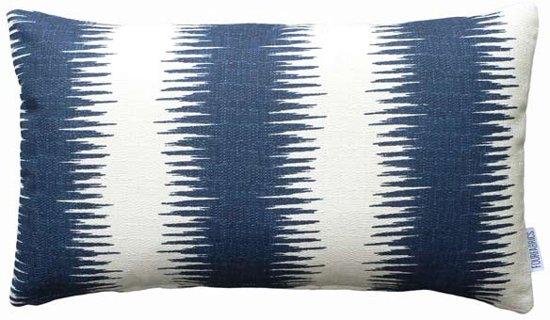Kussen Wit 13 : Bol kussen blauw canvas blauw wit cm