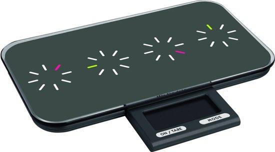 Zak!Designs Pebbly - Keukenweegschaal Tic Tac - Slim - Zwart