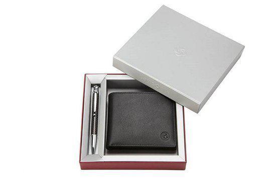 7becbdcd17b bol.com | Samsonite Giftset - Portemonnee en stylus pen - Zilver