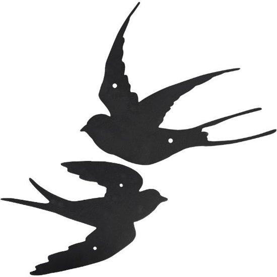 bolcom muurdecoratie zwaluwen set van 4 stuks