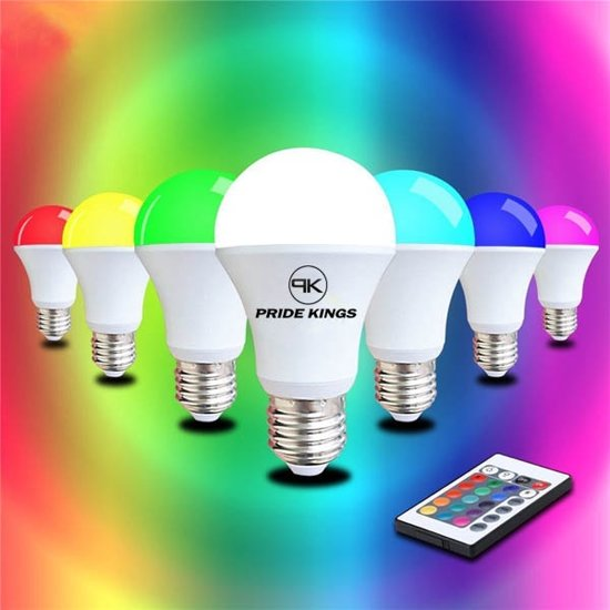 led lamp rgb e27 4w met afstandsbediening pride kings