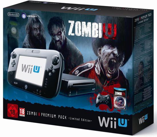 d7e9f89f549 Nintendo Wii U 32GB Premium Bundel + Zombi-U + Premium Controler Zwart