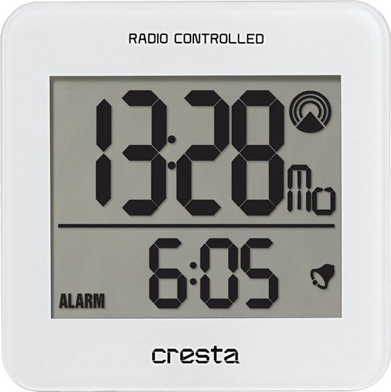 Cresta - Cresta Wekker digitaal wit BLA210