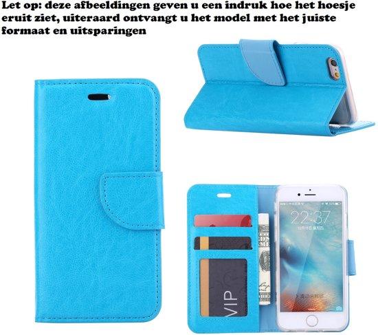 Xssive Hoesje voor Motorola Moto E 2015 2e generatie XT1505 XT1524 - Book Case Turquoise in Torenveen