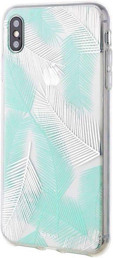Roar iPhone X Case Gel Tpu Color Silicone Green + Nano Screen Protector hoesje