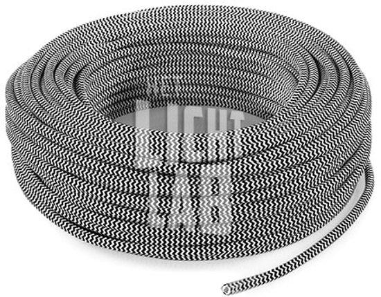 Strijkijzersnoer Zwart Wit Patroon 10 meter | Maak je eigen unieke lamp!