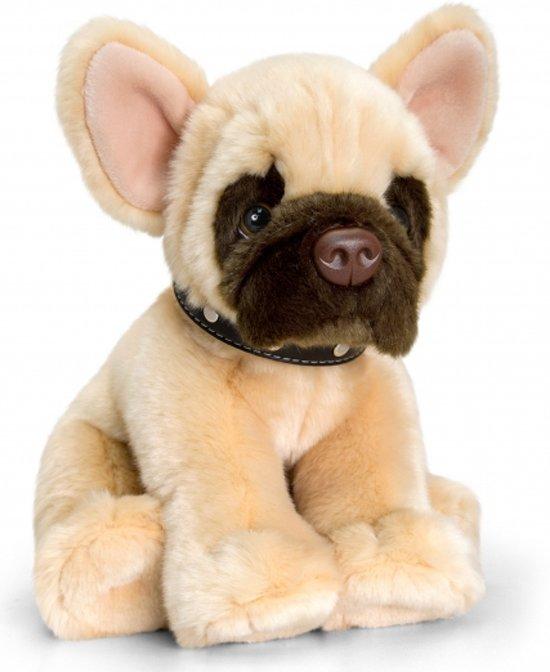 Keel Toys pluche Franse bulldog knuffel 35 cm - knuffeldier