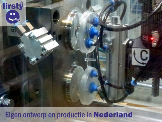 Tandendoosje - Jongen, Blauw - Firsty® Round - Inclusief nederlands Logboekje en Sticker - Gratis verzending elke DI en VR  (besteld vóór 13.30 uur)