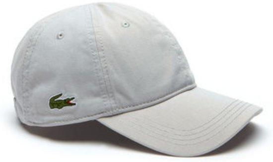 9823d00a787 Lacoste Gabardine Cap Cap - Maat One size - Unisex - grijs
