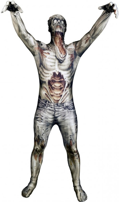 Morphsuits™ Monster: Zombie Kids - SecondSkin - Verkleedkleding - 120/138 cm