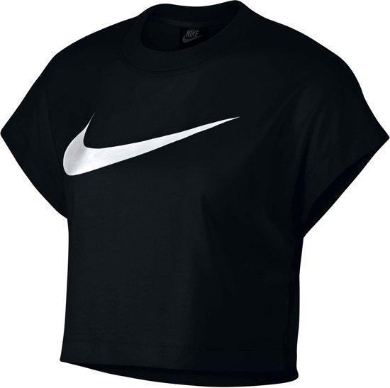 SportshirtMaat Nike Sportswear Croptop wit M Zwart Vrouwen 0ONnZPXw8k