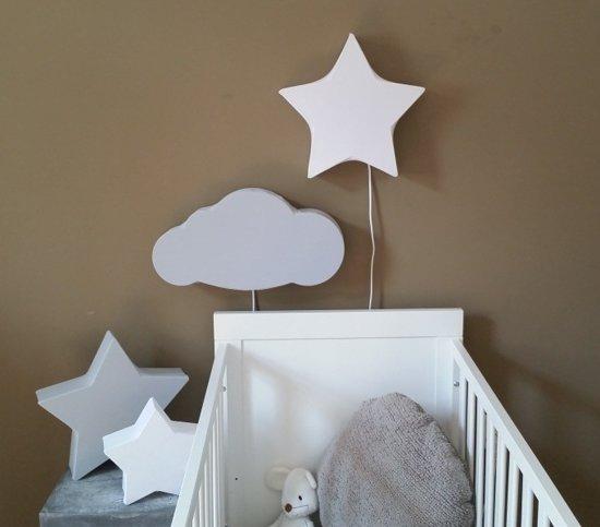 bol | wandlamp babykamer wolk grijs, Deco ideeën