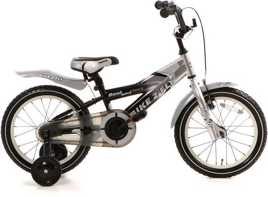 Popal Bike 2 Fly 16k - Kinderfiets - 16 Inch - Jongens - Zwart/Zilver