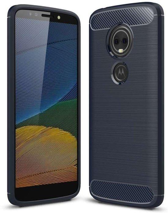 Motorola Moto E5 hoesje - Rugged TPU Case - blauw